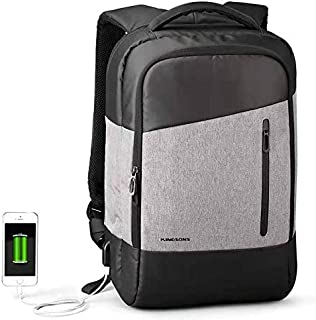 """Kingsons 3159 Computer Laptop Large Content High Capacity Backpack Book Bag With USB Charging Port Bag Fits Laptop Up To 15.6"""" inch/Business/School/Travel/Backpack"""