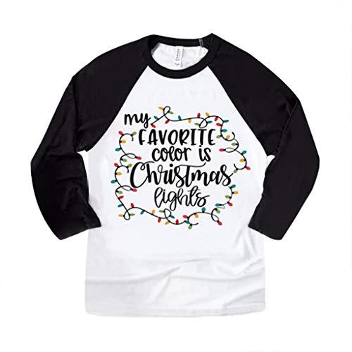 LILICAT Damen Langarmshirts Casual Rundhals Langarm T-Shirts Oberteil Weihnachten Drucken Bluse Mode Elegant Pullover Sweatshirts Lose Festlich Tunika Tops