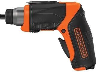 Black+Decker 3.6V 1.5Ah Li-Ion Cordless Power Screwdriver with 2 Handle Position with 5 Screwdriver Bits , Orange/Black - ...