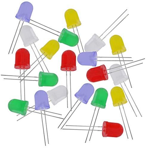 WITTKOWARE Sortiment 10mm-LEDs, je 10x rot, grün, gelb, blau, weiß