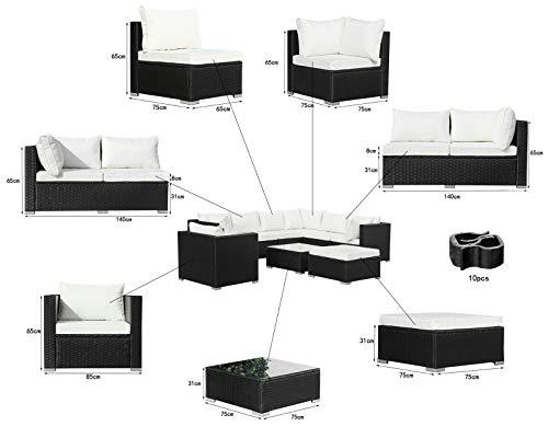 Hansson Polyrattan Lounge Sitzgruppe Gartenmöbel Garnitur Poly Rattan 7 Sitzplätze Bild 5*