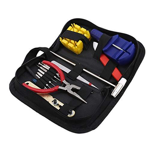 Yesiidor - Juego de herramientas de reparación de relojes con bolsa de...