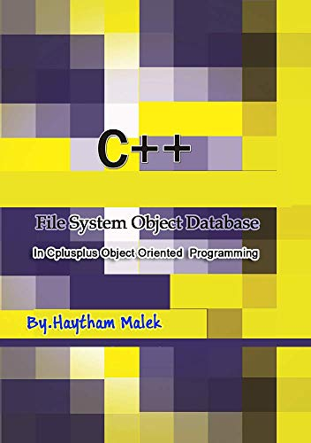 File System Object In Cplusplus Object Oriented Programming Front Cover