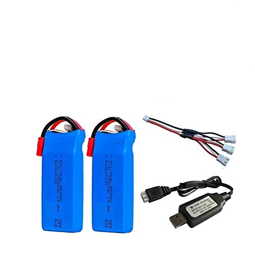 N/V 2s RC Lipo batería 7.4v 2700mAh y Cargador USB para Syma X8C X8W X8G X8 X8HC X8HG X8HW HQ899 T70CW RC Quadcopter Repuestos Black