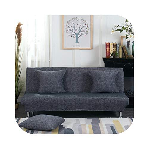 Friendshiy - Funda de sofá cama plegable sin reposabrazos de elastano elástico extensible sin brazos, toalla de sofá para salón, color 7 – 2 unidades