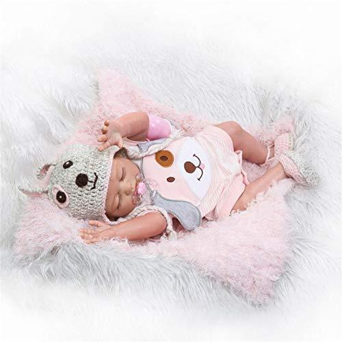 Anano Reborn Baby Dolls Full Body Silicone 20 Inch 50cm Realistic Soft Silicone Vinyl Newborn Baby Doll Weighted Body Doll Gift Set