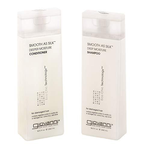 """Set bestehend aus feuchtigkeitsspendendem """"Smooth As Silk""""-Shampoo und Pflegespülung von Giovanni"""