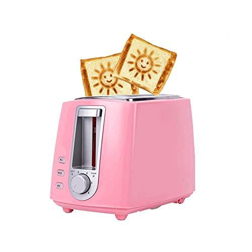 RENXR Toaster 2-Scheiben, Edelstahl Toaster Schöne Smiley-Muster mit Abbrechen Auftau-Funktion Extra Wide Slot Compact für Brot Waffeln