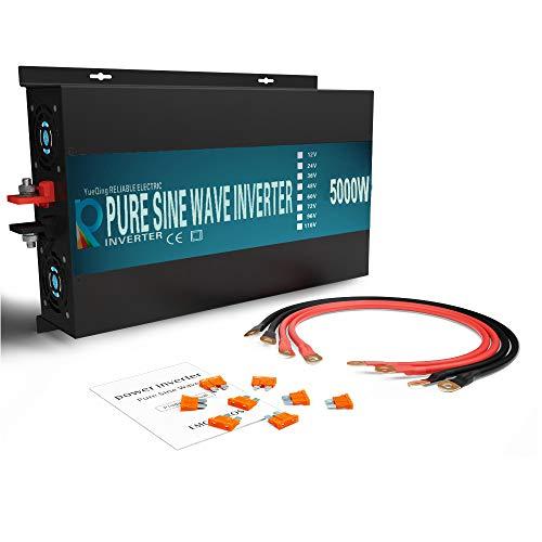 WZRELB RBP-500012S Pure Sine Wave 5000W (10000W Surge) 12V Power Inverter DC to AC Power - Solar, RV