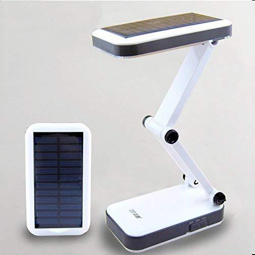 Lámpara de Escritorio Solar, EONHUAYU Luz de Lectura de Cabecera de Lámpara de Escritorio Solar con 24LED Lámpara de mesa plegable de plegado óptico de LED para Lámpara LED para leer Trabajar Estudiar