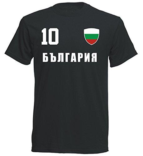 Bulgarien WM 2018 T-Shirt Trikot - schwarz ALL-10 - S M L XL XXL (2XL)