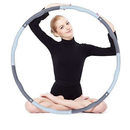 CEINCHOU Hula Reifen Erwachsene Hoop, 8 Abschnitt Abnehmbares Sport Fitness Hoola Hoop Reifen füR Gewichtsreduktion,Abnehmen,Massage,Bauchformung,Büro oder Bauchmuskelkonturen…