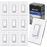 [10 Pack] BESTTEN Dimmer Light Switch, Single-Pole or 3-Way, 120V,...