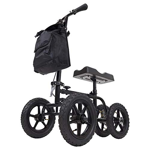 Vive Mobility Knee Walker (All Terrain) - 12 Inch Steerable...