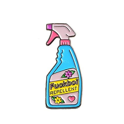 MPU Spray Collection - Broche repelente de botón para botellas grandes, esmalte