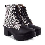 Creattoes Women Boots Black