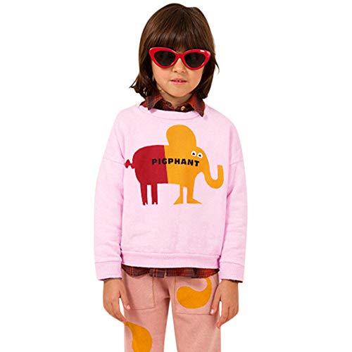 ZODOF Sudadera de Moda Infantil Las Camisetas de la impresión de la Letra de la Historieta de la Manga Larga de los bebés del niño del niño arropan la Ropa de los Trajes