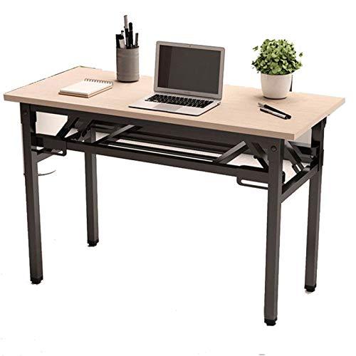 JenLn Mesa Plegable del Escritorio de la computadora Escritorio sin Montaje para el Escritorio de Escritura de Espacios pequeños con escritorios de Almacenamiento para la Oficina en casa