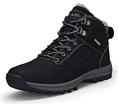 Eagsouni Winterschuhe Herren Damen Warm Gefüttert Winterstiefel Schneestiefel Wasserdicht Trekking Wanderschuhe Wanderstiefel Outdoor Boots Stiefelette