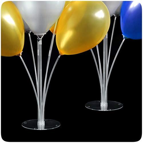 MBW Juego de 2 soportes para globos para cumpleaños y bodas