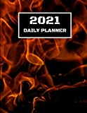 2021 Daily Planner: Hot Daily Planner Including Calendar, Checklist, Priorities, To Do List & Notes
