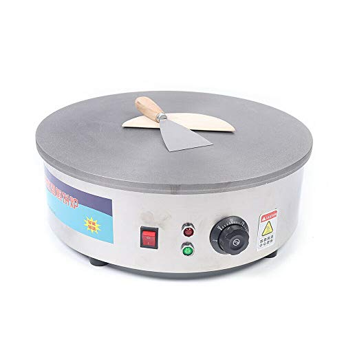 Crepera eléctrica 45 cm 2800 W profesional para crepes y galletas con...