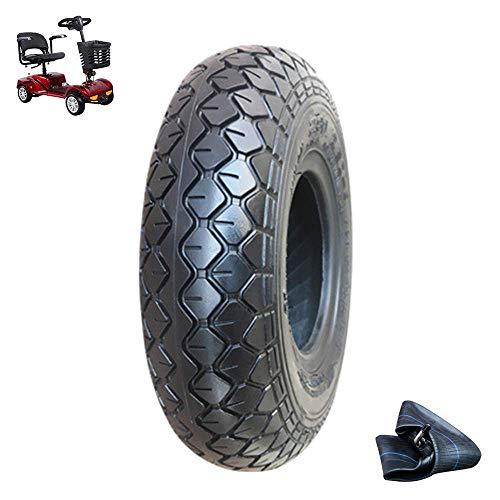Neumáticos para scooter movilidad, neumáticos interiores y exteriores antideslizantes 2.80/2.50-4, neumáticos con cúpula 4 capas resistentes al desgaste, compatible con neumáticos scooter 3/4 ruedas