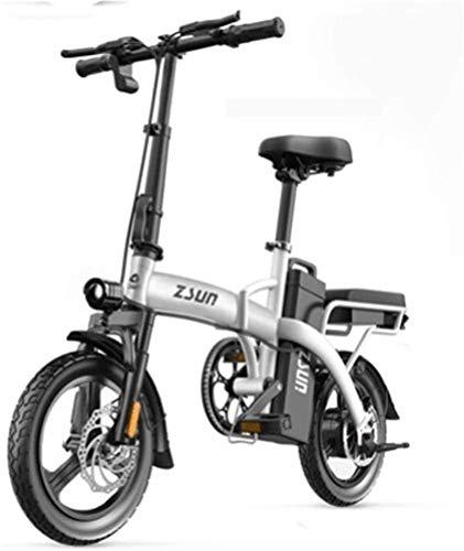 RDJM Bici electrica Bicicletas rápidas y Eléctrica en Adultos Plegable Bicicleta eléctrica for los Adultos de 48 V Urban Plegable de cercanías E-Bici Ciudad de Bicicletas Velocidad máxima 25 km/h Ca
