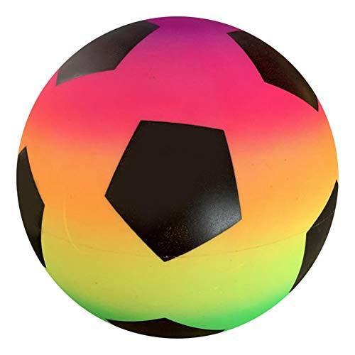 YDLYA Balón de fútbol arcoíris para niños, una Bola arcoíris Verde de 9 Pulgadas de Grosor. Pelota de fútbol Inflable para niños, Pelota de Playa de Verano, Pelota de Salto (Arco Iris)