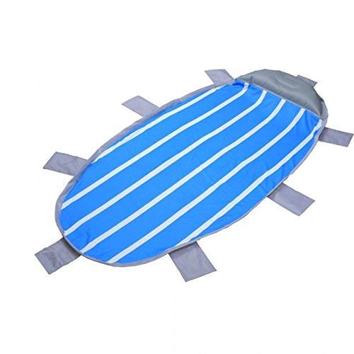 SHENBEIK Isomatte Aufblasbare Isomatte im Freien, die aufblasbare Isomatte mit Kissen-wasserdichter Strand-Matten-Sand-freier Luftmatratze faltet,BlauBlau