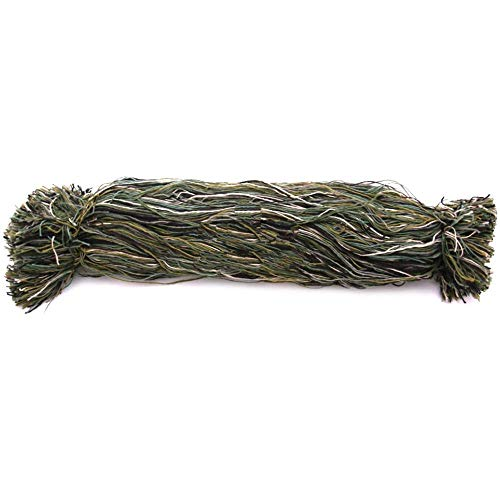 Arcturus Ghillie Suit Thread - Lightweight Synthetic Ghillie Yarn to Build Your Own Ghillie Suit (Woodland Mix)