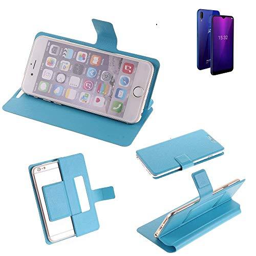 K-S-Trade® Flipcover Für Allview Soul X6 Mini Schutz Hülle Schutzhülle Flip Cover Handy Case Smartphone Handyhülle Blau