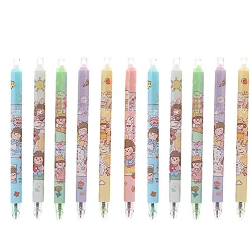 Tomaibaby 11 Piezas de Bolígrafo Retráctil para Hacer Clic Bolígrafo de Tinta de Firma Bolígrafo Decorativo para Rollerball Suministros de Papelería para La Escuela de Oficina en Casa