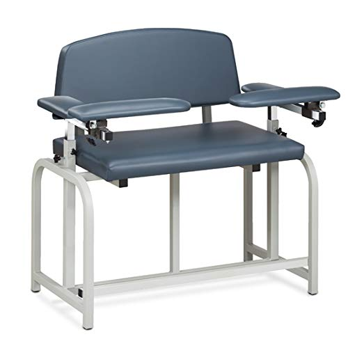 Phlebotomy Equipment - Royal Blue Lab X Series, Bariatric, Extra-Tall, Blood Drawing Chair with Padded Arms - CL-66099B
