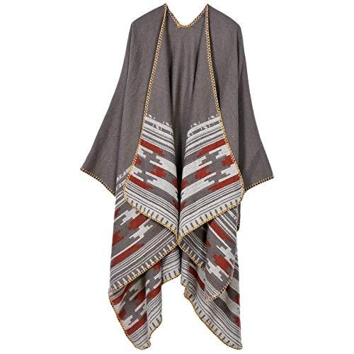 THTHT Sjaal mode mantel dames sjaal verdikking handnaad jacquard warm en lange herfst en winter dual use classic camel