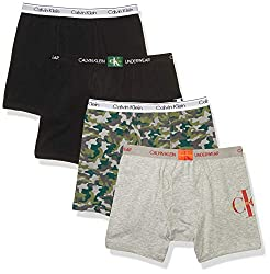 Breathable cotton fabric and branded soft waistband offer all day comfort Stay-put legs resist riding up Keeps kids comfortable during school practice or play 4 pack boys underwear / fashion assortment
