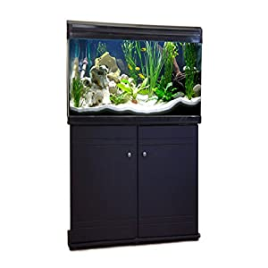 Aquarium Fish Tank & Cabinet 60cm 80L (Black)