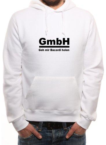 Mister Merchandise Hoodie Kapuzenpullover GmbH GEH Mir Bacardi Holen, Größe: S, Farbe: Weiß
