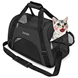 YLONG Cat Carrier Airline Approved Pet Carrier,Soft-Sided Pet Travel Carrier for Cats Dogs Puppy Comfort Portable Foldable Pet Bag,Airline Approved (M, BLACK)