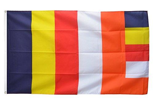 Flaggenfritze Fahne/Flagge Buddhismus + gratis Sticker