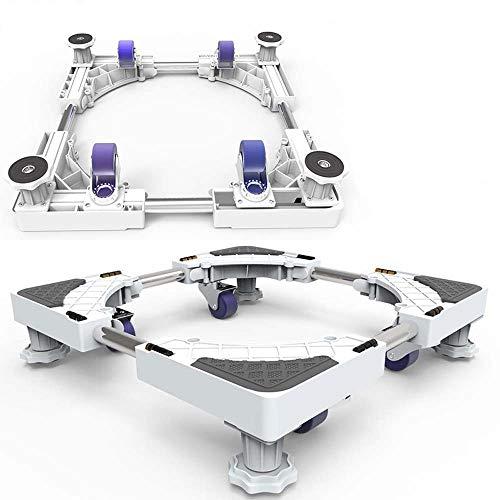 Verstelbare Telescopische Meubels Dolly Roller Beweegbare Base Mobiele Wasmachine voor Koelkast Droger Washer Cabinet, met 4 Vergrendelende Rubber Draaiwielen