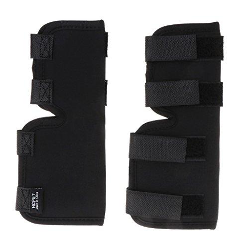 mdhsh 1 Par Legs Brace Pet Knee Hock Protector Perro Pad Soporte Terapéutico a Prueba de Golpes 20x14 cm