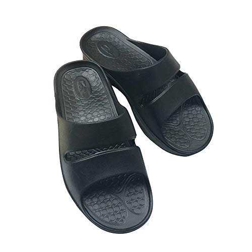 MENFURS ARI-S EVA Material Slippers with Arch Support Ergonomic 3D Insole w/Non-Slip Design - Lightweight & Comfortable Cushioned Feel for Tired Feet (Black260mm), W-Size 9.5 / M-8.5