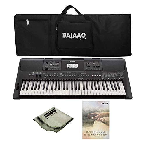 Yamaha PSR-E463 61 Key Portable Keyboard with Bajaao Gig Bag, Adapter, E-Learning Book & Polishing Cloth with 3-Years Official Warranty