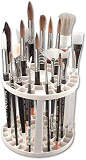 The Brush Crate Multi Bin Paint Brush Organizer - Artist Paint & Makeup Brush Holder, Pens, Pencils, Small Tools Organizer- 49 Openings