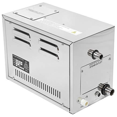 Generatore di Vapore, generatore di Vapore per Sauna in Acciaio Inossidabile 304 con decalcificazione Automatica 3KW, Sistema Doccia a Vapore Domestico a Temperatura costante Regolabile più Sicuro