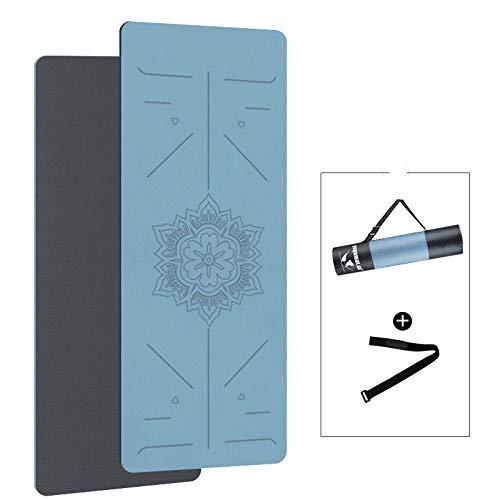 Esterilla de pilates para protección de bordes antideslizante para yoga, ejercicio, esterilla de espuma extragruesa para fitness, gimnasio en casa, 185 cm, 80 cm, 90 cm y 8 mm, color C, tamaño 0