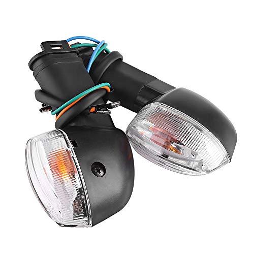 Luz de señal de la motocicleta Señal de giro de la motocicleta Cáscara blanca, alto brillo y alta calidad para YZF R1 R6 FZ1 FZ6(blanca)