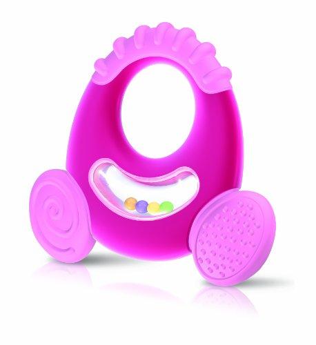 Natural Touch Anneaux de Dentition - Anneau de dentition et hochet, bte de rangt +6 mois (Modèle aléatoire)