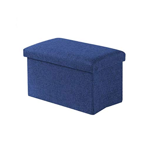 ZXCVBNM Baúl Puff Taburete for Almacenaje Plegable- Asiento Plegable Arcón Asiento Puf Ordenación Caja De Almacenaje Baúl Puff (Color : Blue, Size : Rectangle)